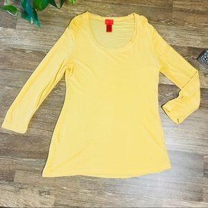 Tops - V Cristina mustard yellow top